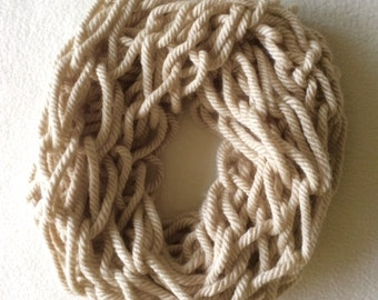 Col, infinity shawl, armbreien, armknitting