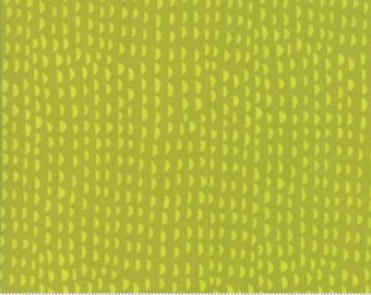 Ruffles Lime Green cotton fabric,  Just Another Walk in the Woods by Moda