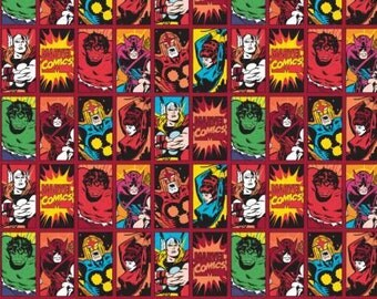 Red Comic Book Heroes, Marvel Comics 3 by Camelot