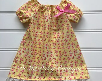 Girl Summer Dress, Toddler Easter Dress, Girl Party Dress, Girl Easter Dress, Girl Party Dress, Girl Yellow Dress, Infant Dress