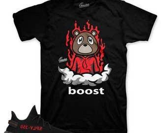 Yeezy Boost Core Red V2 Fresh Bear Shirt