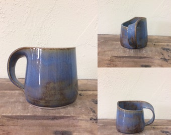 Hand Thrown Self-Handled Mug