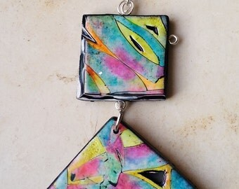 "Pendant, ""Scents of Spring..."", polymer clay, unique, handmade, original design"