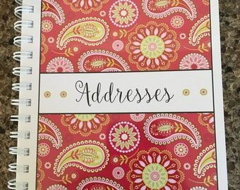 Address Book -Beautiful Pink Paisley Design