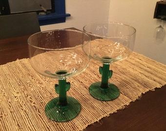 Cactus Margarita Glasses (Pair)