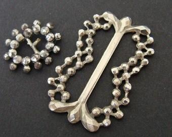 Antique belt buckles - steel & imitation steel