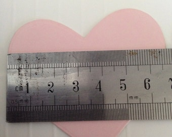 Set of 5 Pale Pink Hearts