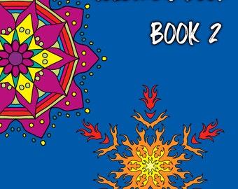 12 Page Mandala Colouring Pages PDF Digital Download