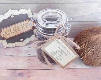 Organic Coffee Sugar Scrub - Exfoliating Scrub - Body Scrub - Moisturizing - 8 Ounces