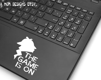 The Game is On Sherlock Holmes Vinyl Decal White