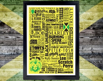 Roots Reggae Poster - bob marley, peter tosh, jamaica, jimmy cliff, music