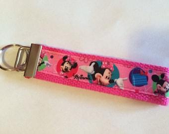 Minnie Mouse Key Chain Wristlet