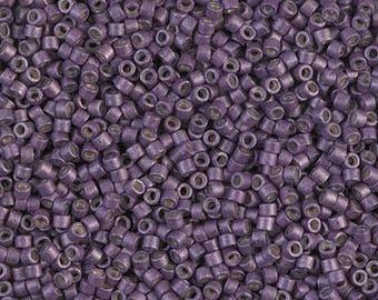 11/0 Galvanized Matte Eggplant Miyuki Delica-1174, DB1174, Delica 1174, 6 Grams