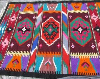 Romanian Kilim, Floor Rugs - Vintage handwoven wool rug carpet - Romania Kilim Bessarabian Kilim. Vintage Kilim, Handmade kilim rug - 88