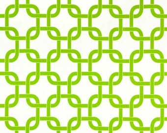 White Chartreuse  Curtain. Green Window treatment. Gotcha chainlink  pattern. Window topper. Choose  your sizes