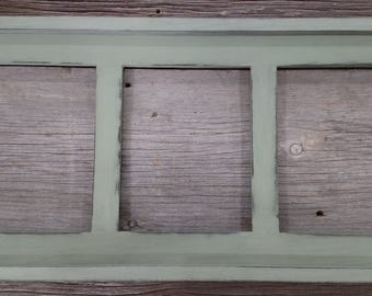 Collage Picture Frame 3 Opening 4x6, 5x7, 8x10 Rustic Distressed Photo Frame