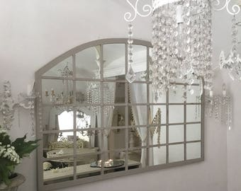 Vintage hand wrought iron mirror