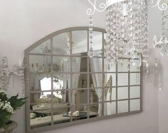 Vintage hand wrought iron mirror