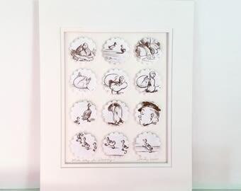 """Make Way for Ducklings,  11""""x14"""" Robert McCloskey, Nursery Decor, duck, quack, children"""