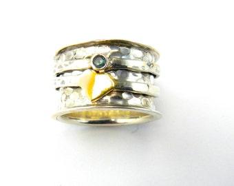 Heart of Gold Meditation Ring
