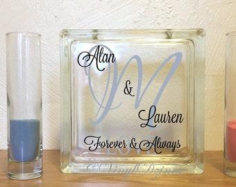 Monogram Wedding - Forever & Always Personalized Sand Unity Set - Custom Monogram Wedding Sand Set - Personalized Wedding Unity