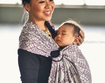 Ring Sling - Daiesu Manggis Plum - Baby Wrap - Woven Baby Wrap - Ring Sling Baby Carrier - Baby Carrier