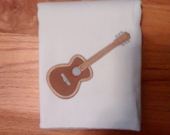 Personalized Guitar Burp Cloth