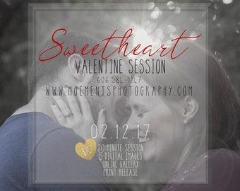Valentine Flyer - PSD - fully customizable - photography flyer
