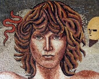 Jim Morrison Marble Mosaic Mural