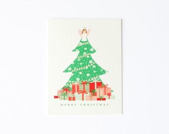 Christmas Tree Card, Christmas Card, Pretty Christmas Card