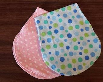 Polka Dot baby burp cloths
