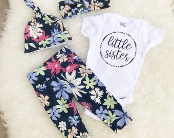 Little Sister, Little Sister Onesie, Little Sister Coming Home Outfit, Going Home Outfit Girl, Coming Home Outfit Girl, Little Sister Set