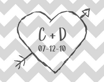 Engraved Heart with Initials BACK DESIGN Add-On