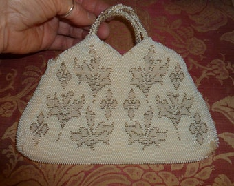 Small and Sweet Vintage Beaded Czech Handbag / clutch / Purse From The 1940's