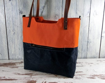 Shopper Tote waxed cotton canvas
