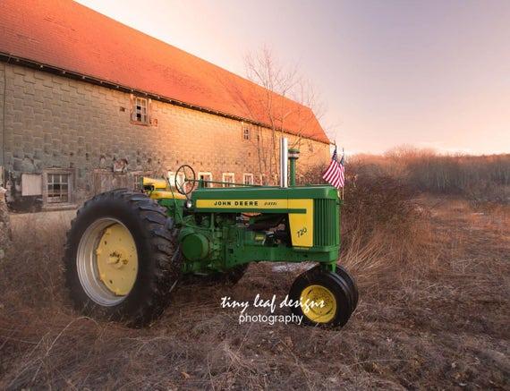 Vintage John Deere Farm Photograph 5x7 8x10 11x14