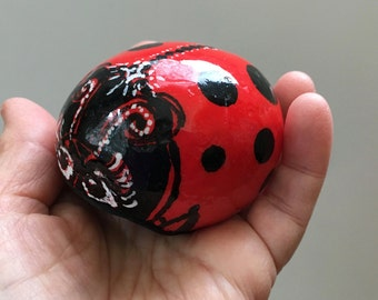 Hand Painted Ladybug Rock