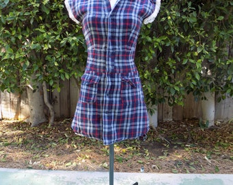 Upcycled Flannel Shirt Dress