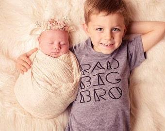 Rad Big Bro Tee, Rad Big Brother, Brother Shirts, Big Brother Shirt, Trendy kids clothes, Onesie, T-Shirt, Sibling Shirts, New Big Brother