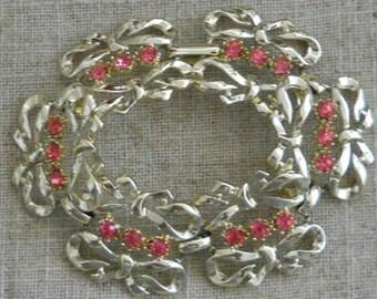 Vintage 1950s pink crystal bracelet