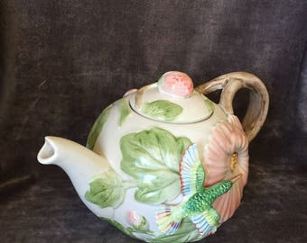 Vintage Hummingbird teapot by FF Floyd and Fitz.