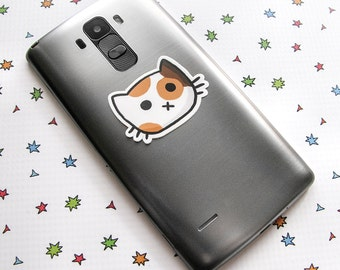 Calico Cat Sticker, Phone Sticker, Cat Laptop Sticker, Car Sticker, Bumper Sticker, Vinyl Sticker, Cute Cat
