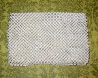 Vintage Whiting & Davis White Enamel Mesh Clutch