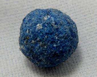 Azurite Concretion, Natural Azurite, Azurite Gemstone, Azurite Sphere, Azurite Orb, Mineral Specimen, Rock Collection, Chakra 12 mm  #45