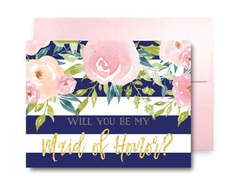 Will You Be My Bridesmaid Card, Bridesmaid Cards, Ask Bridesmaid, Bridesmaid Maid of Honor Gift, Matron of Honor, Flower Girl #CL318