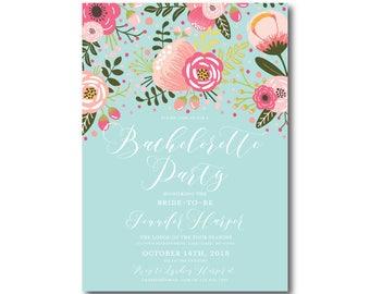 Floral Bachelorette Party Invitation, Printable Bachelorette Party Invitation, Printable Floral Invitation, Bachelorette Party #CL336