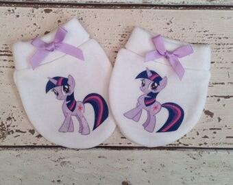 My little pony unicorn Baby Scratch Mitts/mittens