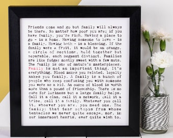 Family Print; Gift For Parents; Gift For Mum; Gift For Dad; Gift For Family; AP039