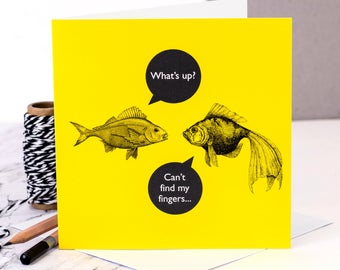 Funny Card; 'What's A Chip?'; Funny Birthday Card; Funny Friendship Card; GC479