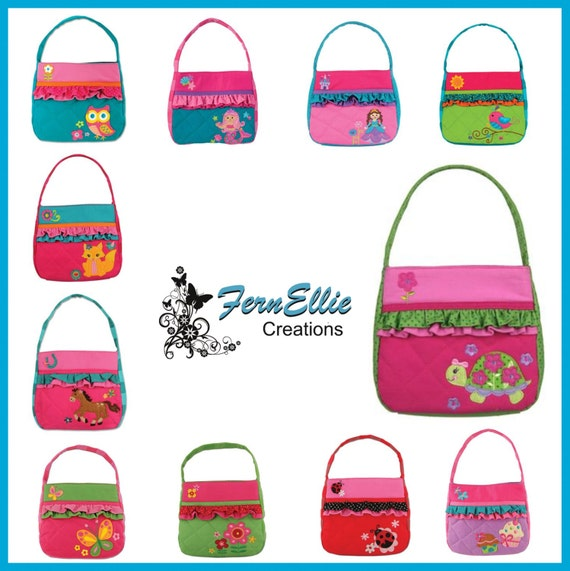 Personalized Stephen Joseph Quilted Purse, Owl, Mermaid, Bird, Cupcake, Turtle, Horse, Flower, Butterfly, Princess, Fox.